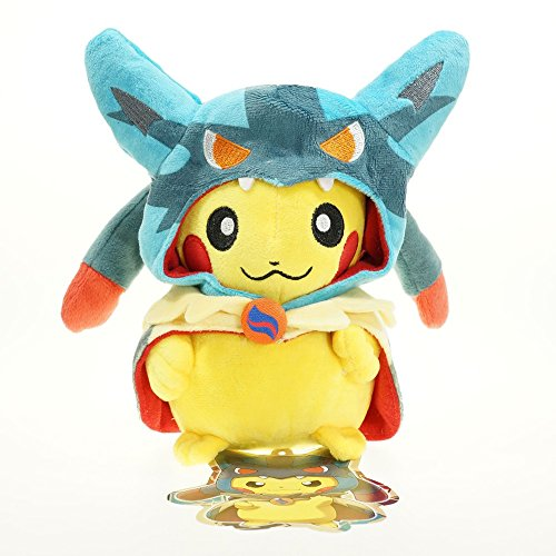Plush Toys Pikachu Charizard Dragon Mega charizard Plush Stuffed doll Toys 28CM