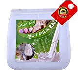 Almond Milk Bag - UNi-Fam The Best Reusable Nut Milk Bag 12