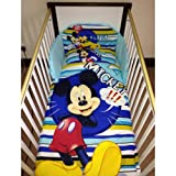 Disney Mickey Mouse & Pluto Bedding Set for Cot or Cotbed (Cot - 120 x 60cm)