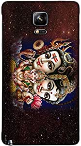 Timpax Protective Armour Case Cover. Multicolour Printed Design : lord shiva.Specifically Design For : Samsung Galaxy Note 4 ( SM-910U )