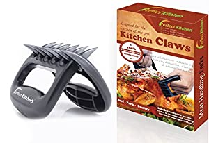 iPerfect Kitchen Meat Handling & Shredding Claws for Pulled Beef, Pork, Chicken, Turkey, Etc. - Professional Style - Set of 2 - Black