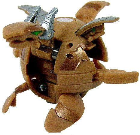 Bakugan New Vestroia Bakuneon LOOSE Figure Sub Terra Brown