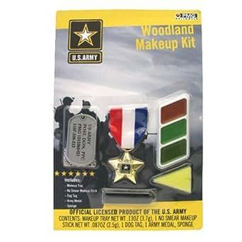 Army Makeup Kit - Woodland Camo