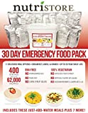 30 Day Emergency Food Pack | 400 Servings | 62,000 Calories by Nutristore