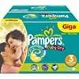 Pampers Baby-Dry Size 3 (9-20 lbs/4-9 kg) Nappies - Giga Pack of 180 Nappies