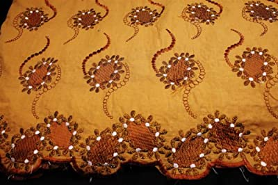 Brown,high Class Poly Cotton Embroidery Voile Lace Fabric in 10 Colors, Voile Textile