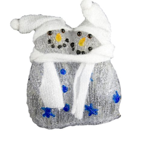 XEPA EHX-XP029 LED Illuminated Acrylic Twin Snowman Accent Light, White