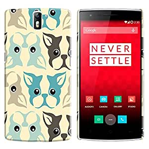 Theskinmantra Dog Face Back cover for One Plus One
