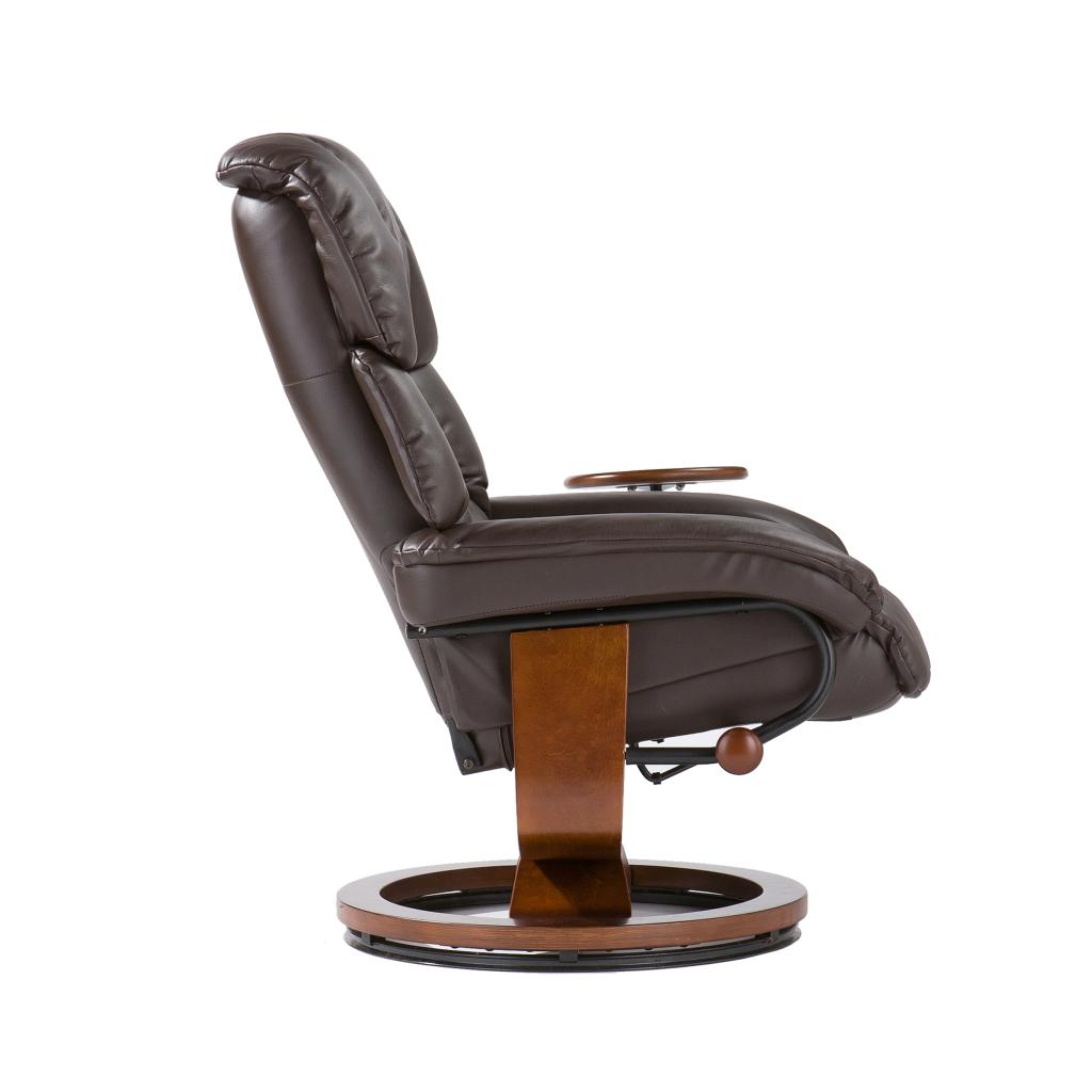 cafe brown leather recliner with ottoman recliner chair