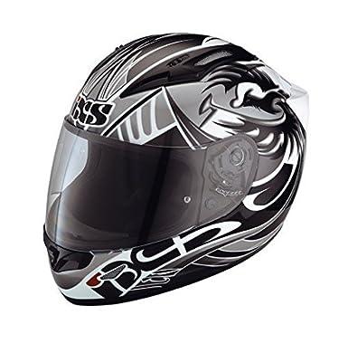 IXS hX graphique 407 casque intégral taille l (noir/gris/blanc