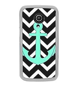 Anchor 2D Hard Polycarbonate Designer Back Case Cover for Motorola Moto E2 :: Motorola Moto E Dual SIM( 2nd Gen) :: Motorola Moto E 2nd Gen 3G XT1506 :: Motorola Moto E 2nd Gen 4G XT1521