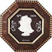 Siri Creations 999 Pure Silver God Radha Krishna Wooden Frame Showpiece - 25 Cm