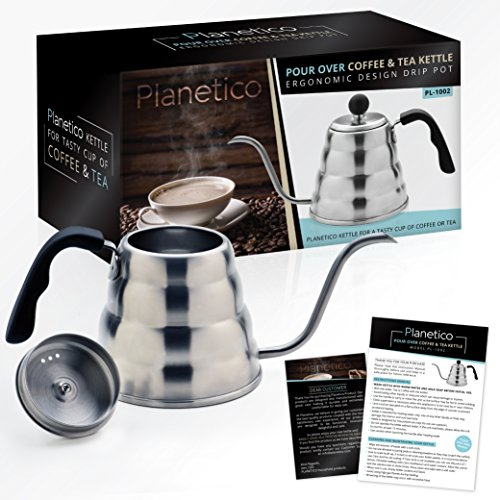 Planetico pour over kettle and silicon coaster for