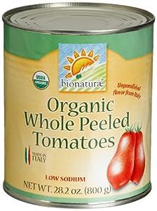 bionaturae Organic Whole Peeled Tomatoes, 28.2 Ounce Tins (Pack of 12)