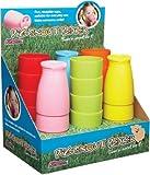 Kitsch'n'Fun 'Pig Snout' Plastic Beakers in Assorted Cols - Display of Twenty-four