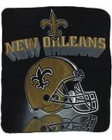 """New Orleans Saints Lightweight Fleece Blanket (Measures Approx. 50"""" x 60"""")"""