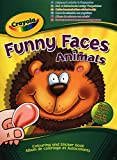 Crayola Funny Faces Colouring and Sticker Book (People or Animals)