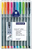 Staedtler Triplus Roller 403 SB10 Triangular Rollerball Desktop Box - Assorted Colours (Pack of 10)