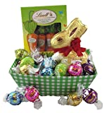 Happy Easter! Lindt Bunny, Carrots, Truffles Chocolate Gift Basket-small