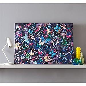 Butterfly Kaleidoscope Blue Wall Art