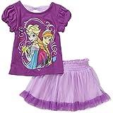 Disney Frozen Elsa & Anna Toddler Girls' Tee and Tutu Skirt Set (12 Months)