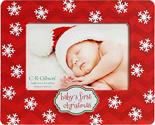 C.R. Gibson Tabletop Photo Frame, Baby's First Christmas - 1