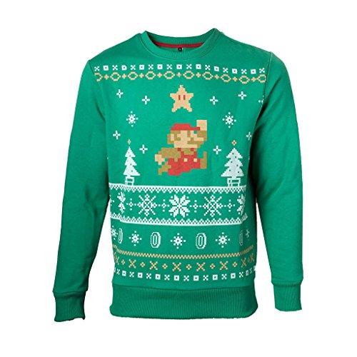 nintendo-pullover-2xl-christmas-grun