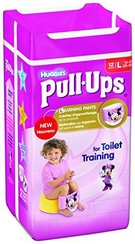 Huggies Pull Ups - Mutandine di apprendimento per bambina, Taglia L, 12 pz.