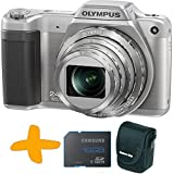 Bundle: Olympus Stylus SZ-15 Super Zoom Silver Digital Camera + Samsung 16GB Memory Card + Allcam Camera Case (16MP, 24x Wide Optical Zoom, 3 inch LCD, Intelligent Auto)
