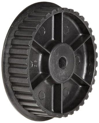 Timing Belt Pulley Lexan Polycarbonate, 3mm Pitch, 33.6mm Diameter, 6mm Bore, Single Flange, 9mm Wide Belt