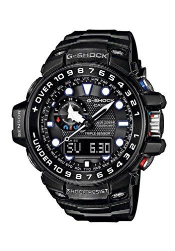 Casio G-Shock Triple Sensor GWN-1000B-1AER Reloj radiocontrolado para hombres Alímetro, Barómetro, termómetro, brújula