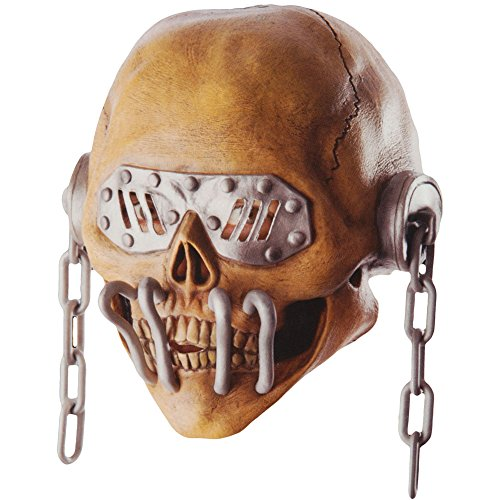 Megadeth Men's Vic Rattlehead Latex Overhead Mask Mask Brown