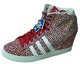 Adidas Womens Basket Profi UP Wedge Boot Trainer D65829 Sizes 6.5uk 7uk 7.5uk Red /white