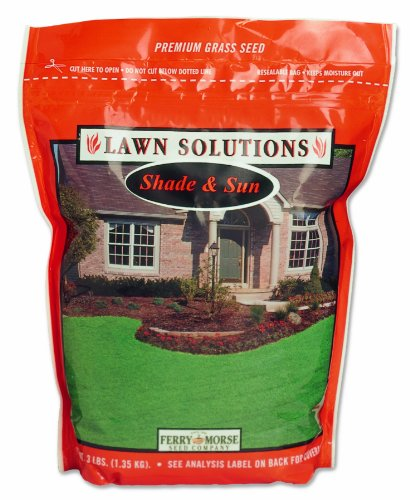Ferry-Morse 6878 Lawn Solutions Sun and Shade Grass Seed Mix North, 3-Pound Bag