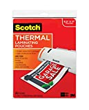 Scotch Thermal Laminating Pouches 8.9 x 11.4 Inches 3 mil, 20-Pack (TP3854-20)