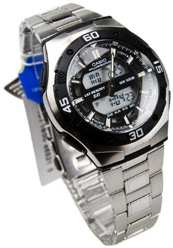 Casio AQ-164WD-1AVDF Men's Steel Quartz Analogue & Digital Multifunction Watch