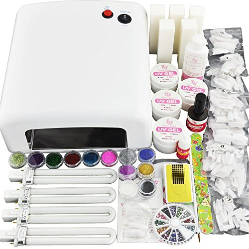 Beauties-Factory-36W-White-Color-UV-Gel-Nail-Curing-Dryer-Lamp-Light-UV-Gel-Nails-Art-Kit