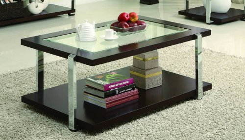 Buy Low Price 701519 Cracked Glass Coffee Table Set By Coaster B0076eh2mw Coffee Table Bargain