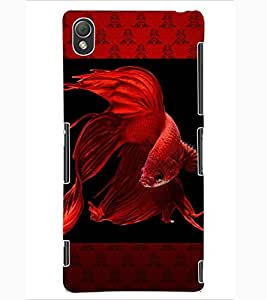 ColourCraft Beautiful Fish Design Back Case Cover for SONY XPERIA Z3