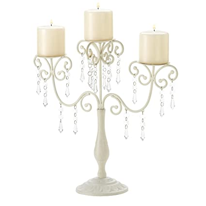 Ivory Candelabra Wedding Gift Centerpiece Candle Holder by Gifts & Decor