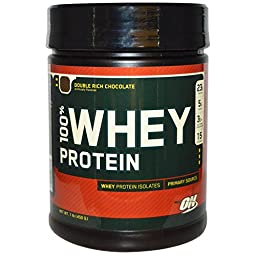 Optimum Nutrition 100% Whey Protein, Double Rich Chocolate, 16 Ounce