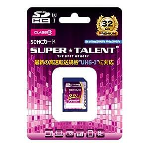 スーパータレント UHS-I SDHCメモリーカード 32GB Class10 ST32SU1P