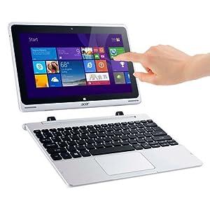 """Acer Aspire Switch 10 SW5-011-18MX PC portable Hybride Tactile 10,1"""" Gris (Intel Atom, 2 Go de RAM, SSD 32 Go, Windows 8.1) + Microsoft Office Famille et Etudiant 2013 inclus"""