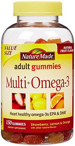 Nature Made Adult Gummies Multi + Omega-3 Strawberry, Lemon & Orange Flavors - 150 CT (Nature Made Multi Adult Gummies compare prices)