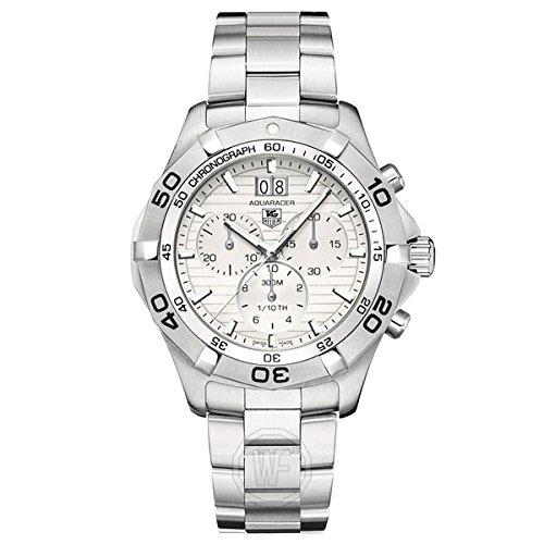 TAG Heuer Men's CAF101F.BA0821 Aquaracer Quartz Silver Chronograph Dial Watch