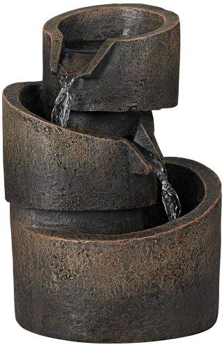 3-Tier Bronze Stone Contemporary Tabletop Fountain