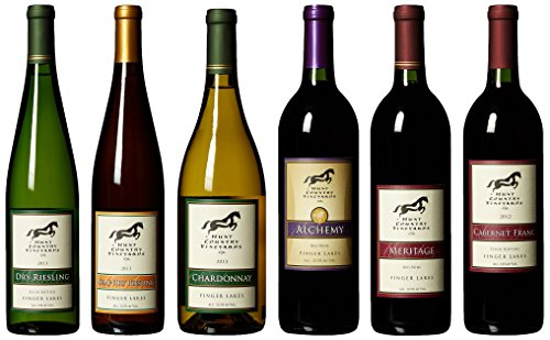 "Hunt Country ""Finger Lakes Signature Wines 6 Pack"" Mixed Pack, 6 X 750 Ml"