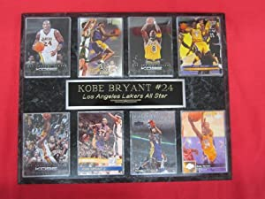Kobe Bryant Los Angeles Lakers 8 Card Collector Plaque by J & C Baseball Clubhouse