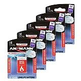 5x ANSMANN 10-Jahres Longlife Lithium Batterie - speziell für Rauchmelder