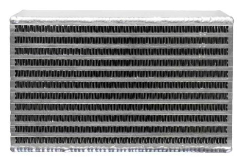 Bell Intercooler Core, Air-to-Air, 1.25 D x 26.4 H x 12 W, 611 CFM epman universal aluminum water to air liquid racing intercooler core 250 x 220 x 115mm inlet outlet 3 ep sl5046c